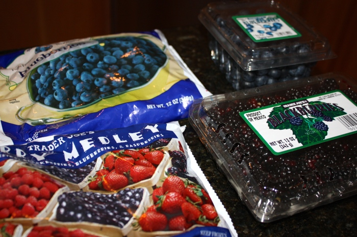 food blog berries from TJs