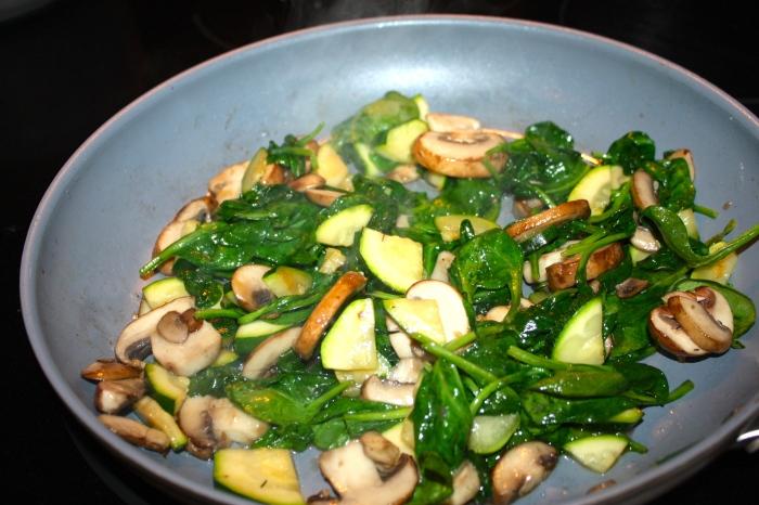 food blog : mushroom, zucchini, spinach