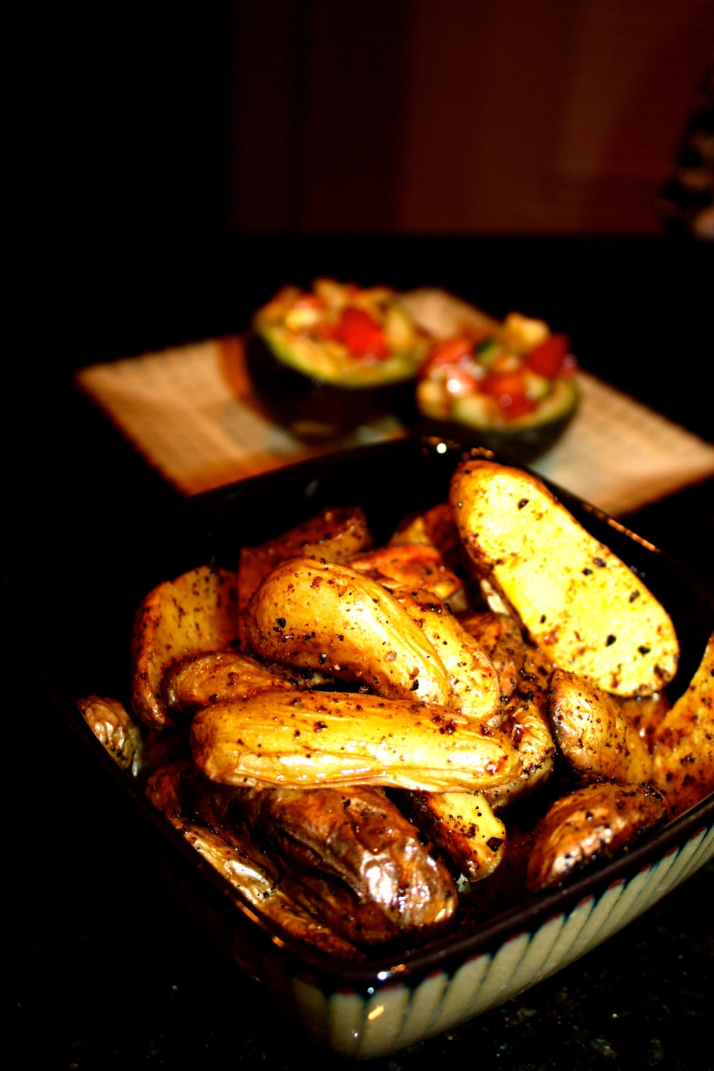 roasted cajun fingerling potatoes