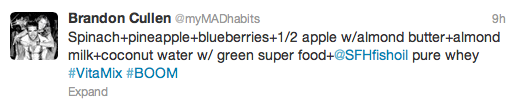 MAD tweets #vitamix