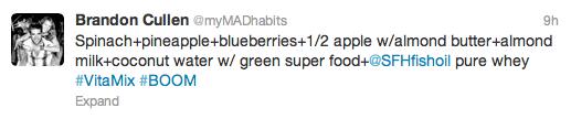 MAD tweets #vitamix
