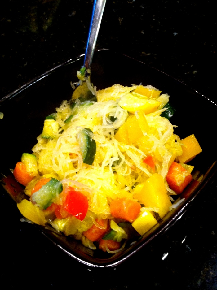 fuel sweat grow: spaghetti squash primavera