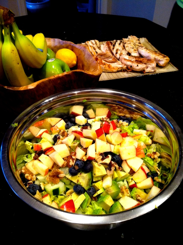 fuel sweat grow: chicken and salad sides