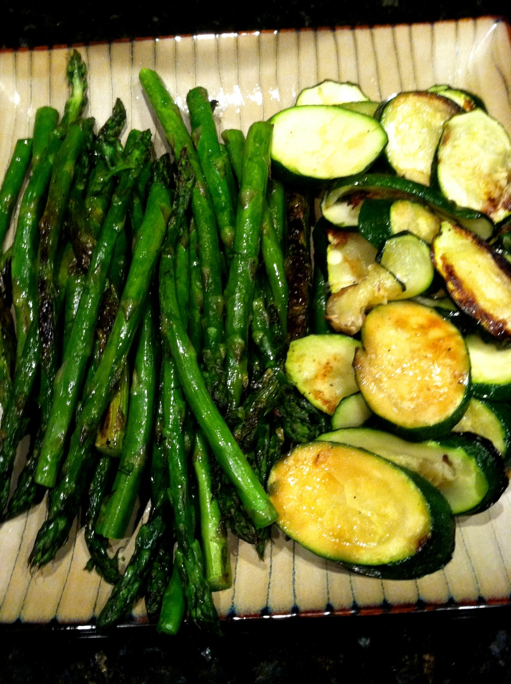 fuel sweat grow: zucchini + asparagus