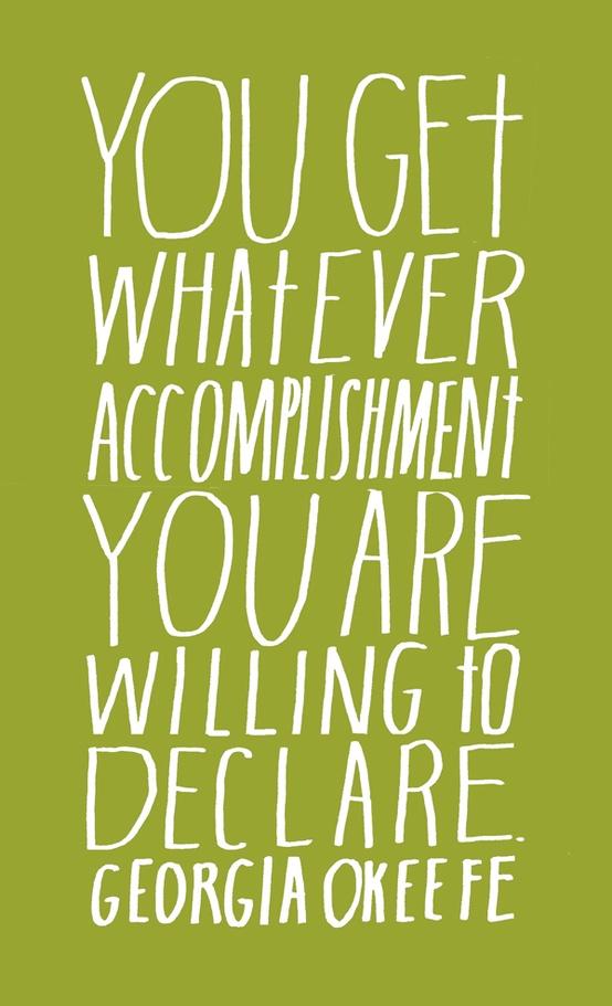 Accomplishments -Georgia O'Keefe