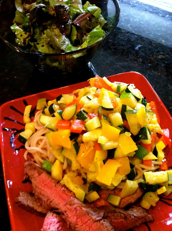 spring mix + veggie meal