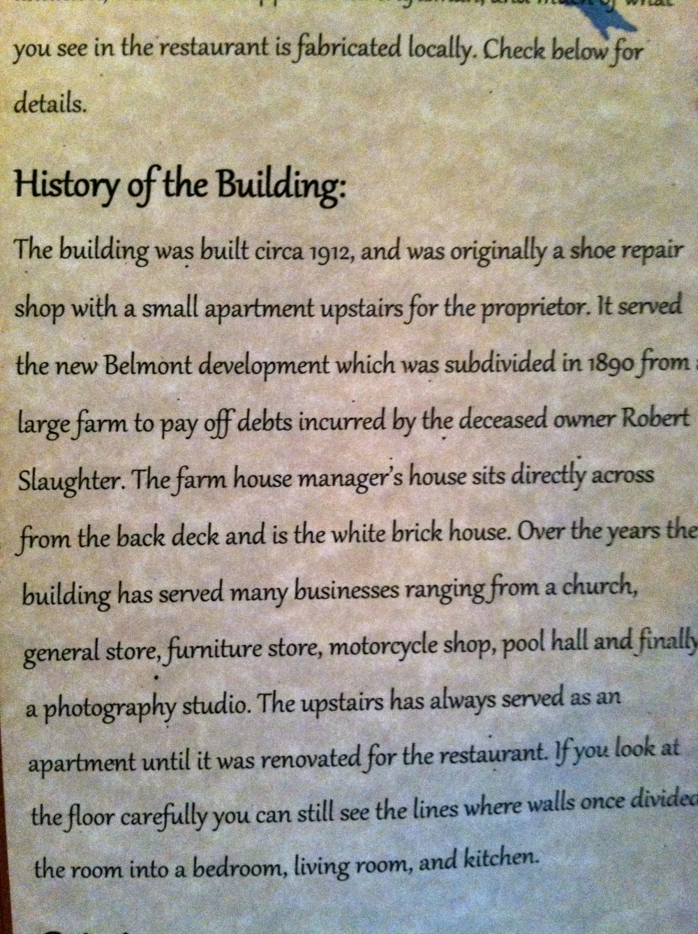 The Local History