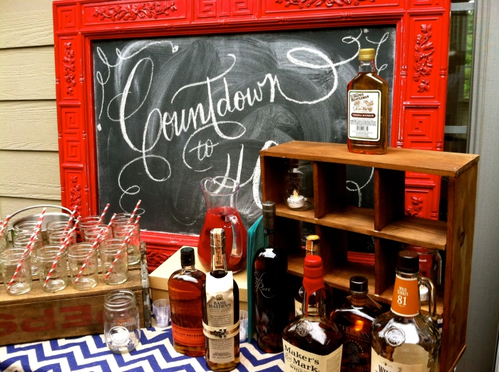 birthday bourbon table