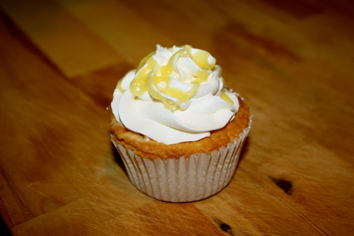 lavender/lemon cupcake