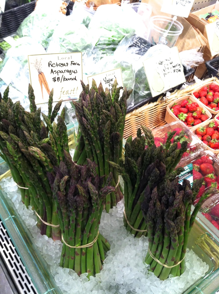 local asparagus from FEAST