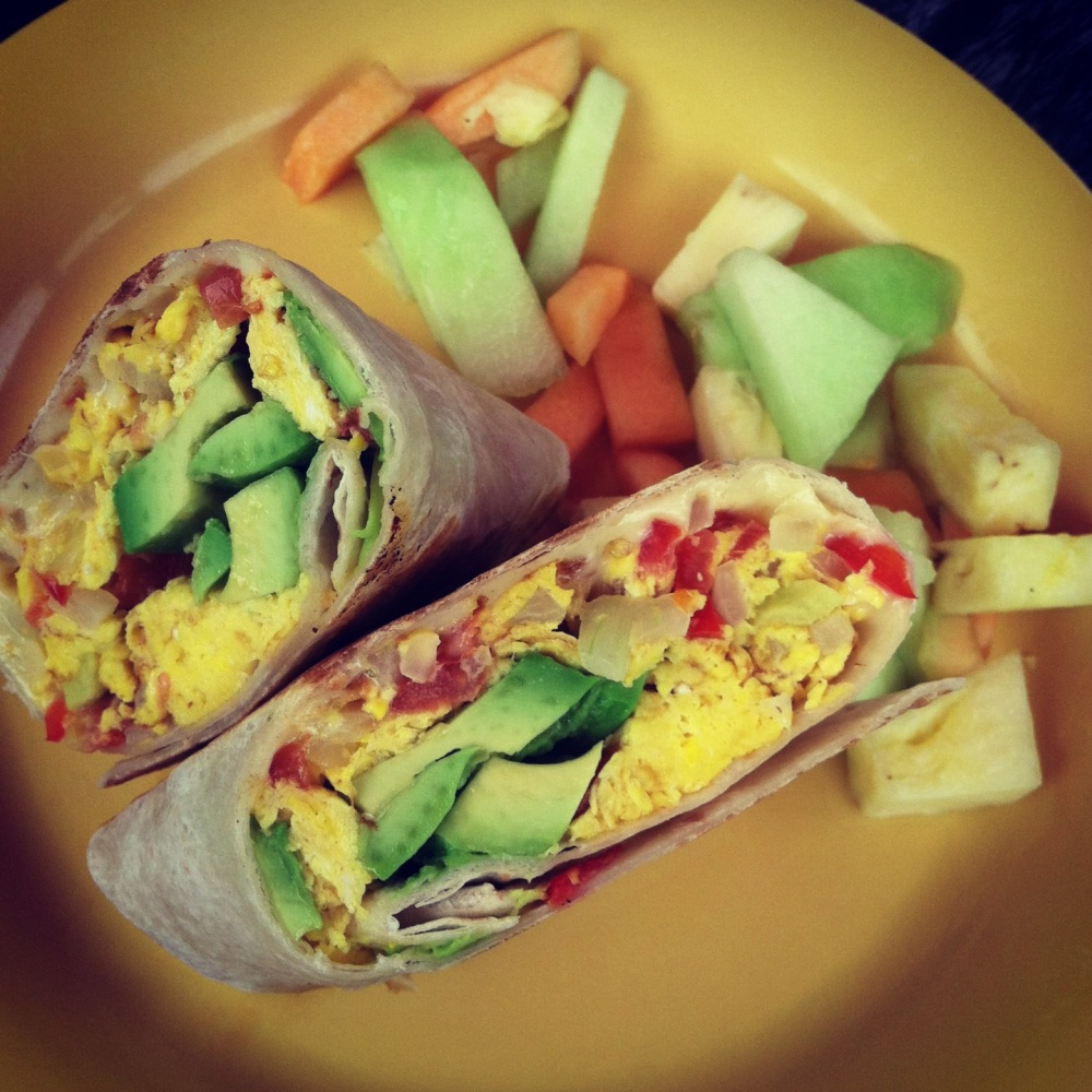 fuel sweat grow: la taza veggie burrito