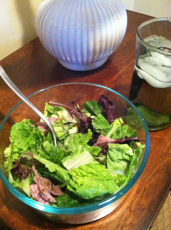 fuel sweat grow: salad w/steak
