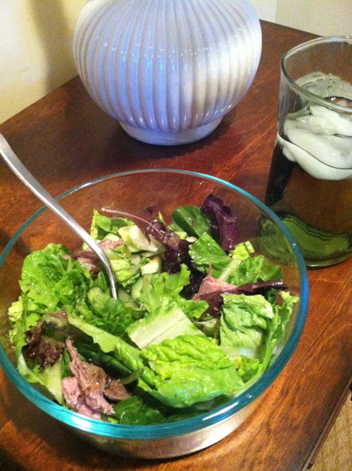 fuel sweat grow: salad w/steak