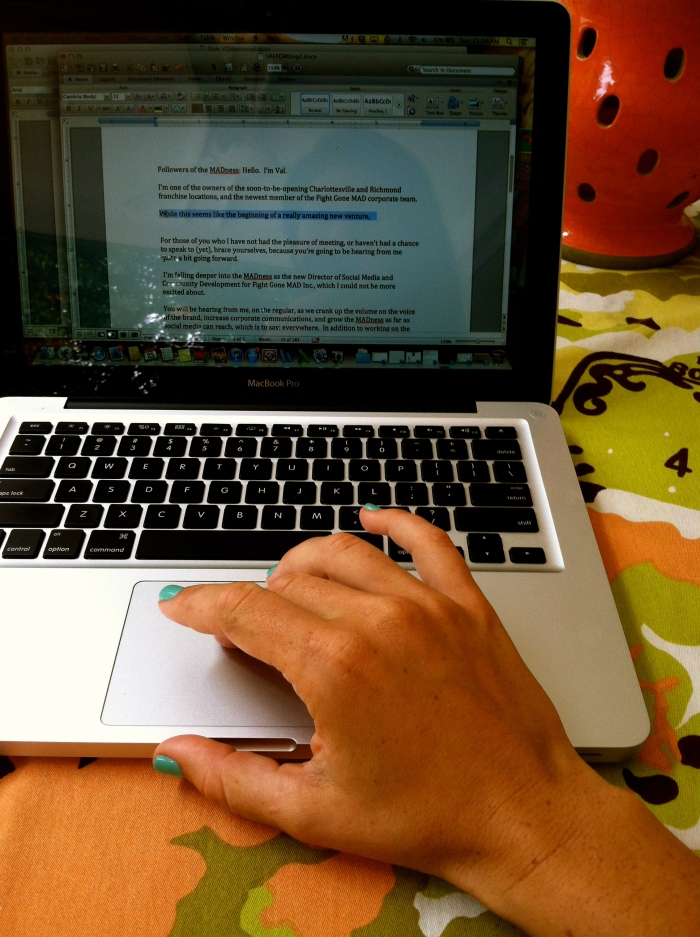 fuel sweat grow: blogging