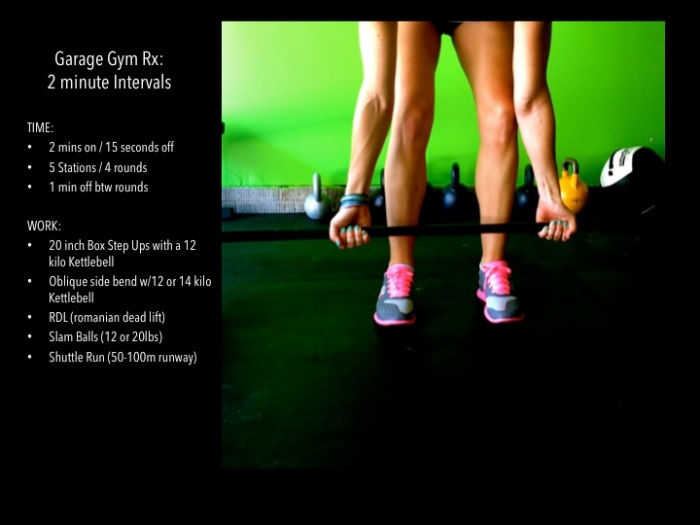 fuel sweat grow: interval workout