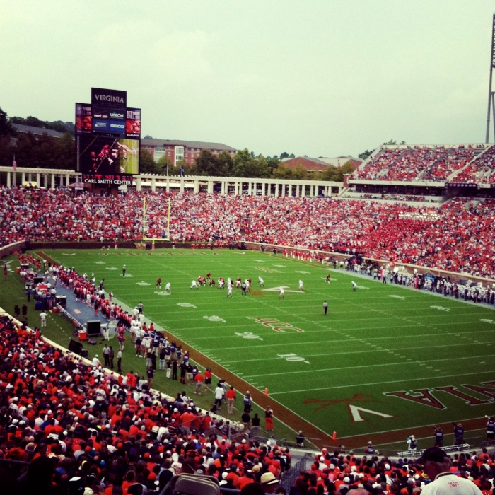 UVA Football v. BYU