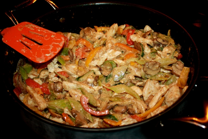 non-peanut thai chicken stir fry