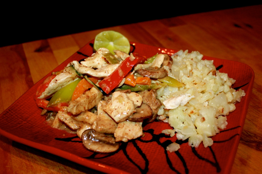 thai chicken and rice dinner