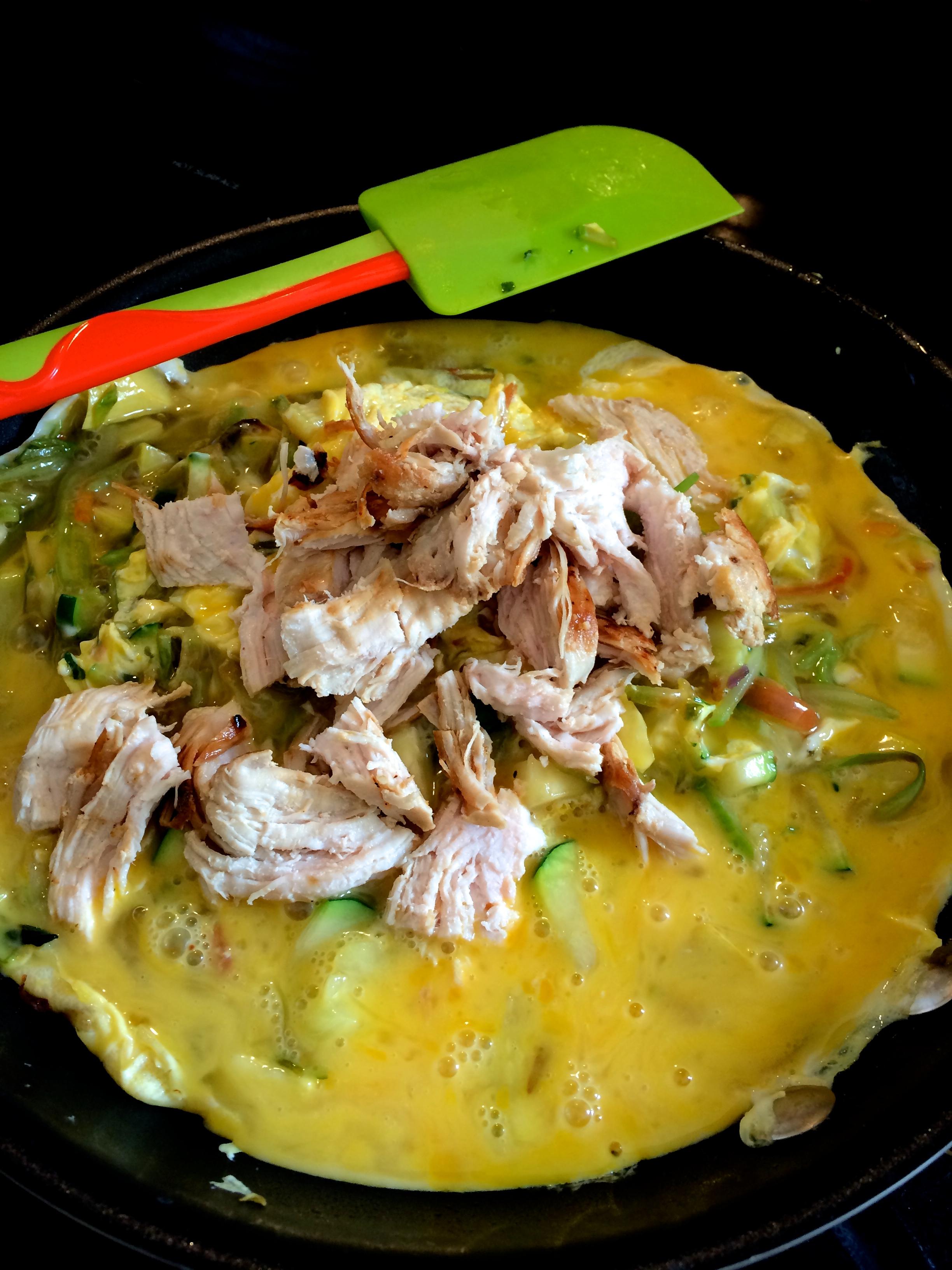 Add chicken & Eggs