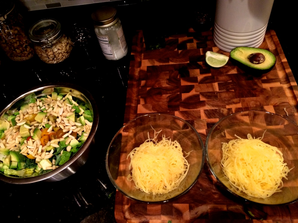 Fuel Sweat Grow: Spaghetti Squash Meat Marinara