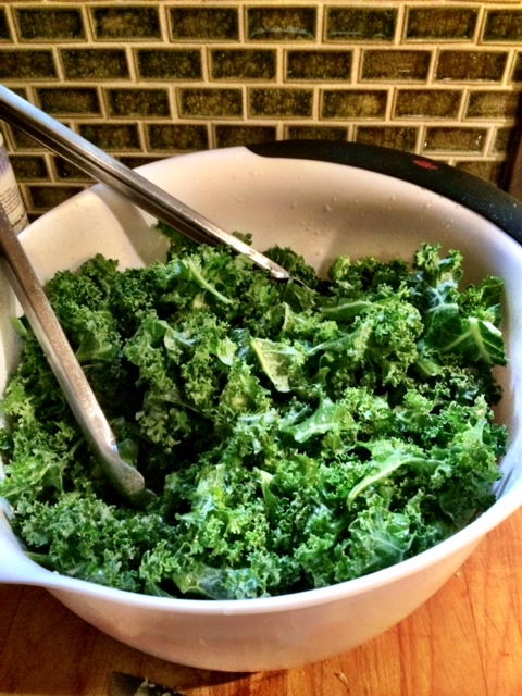 fuel sweat grow: kale salad
