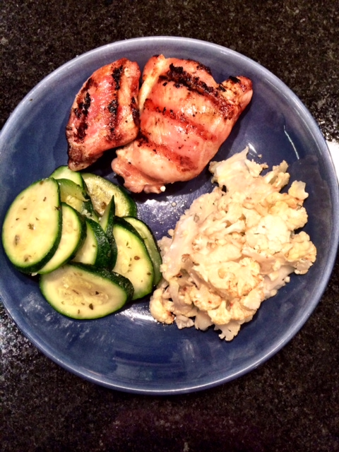fuel sweat grow: grilled dinner