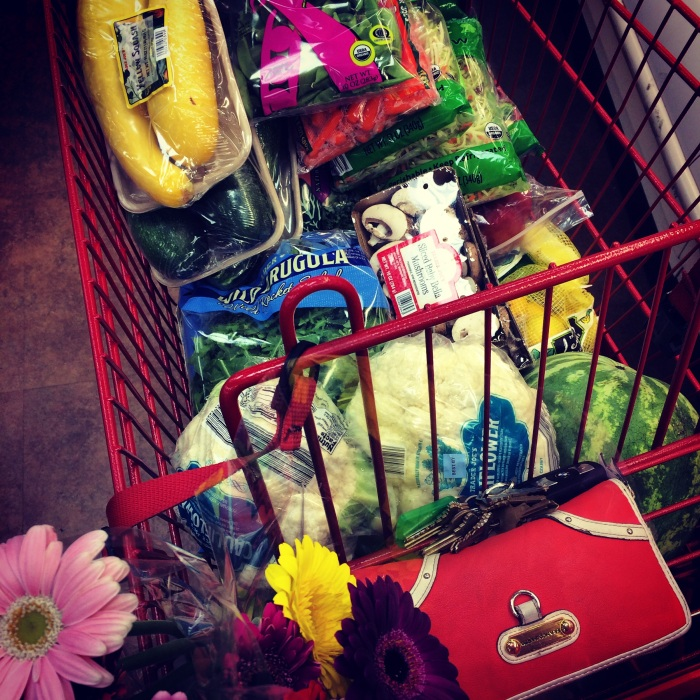 fuel sweat grow: trader joes grocery cart