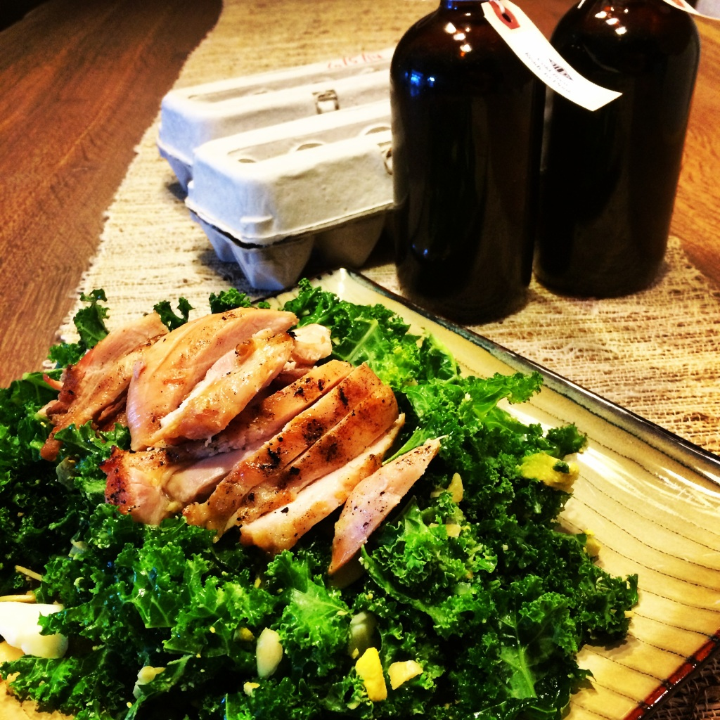 fuel sweat grow: Kale Salad & Stock Provisions
