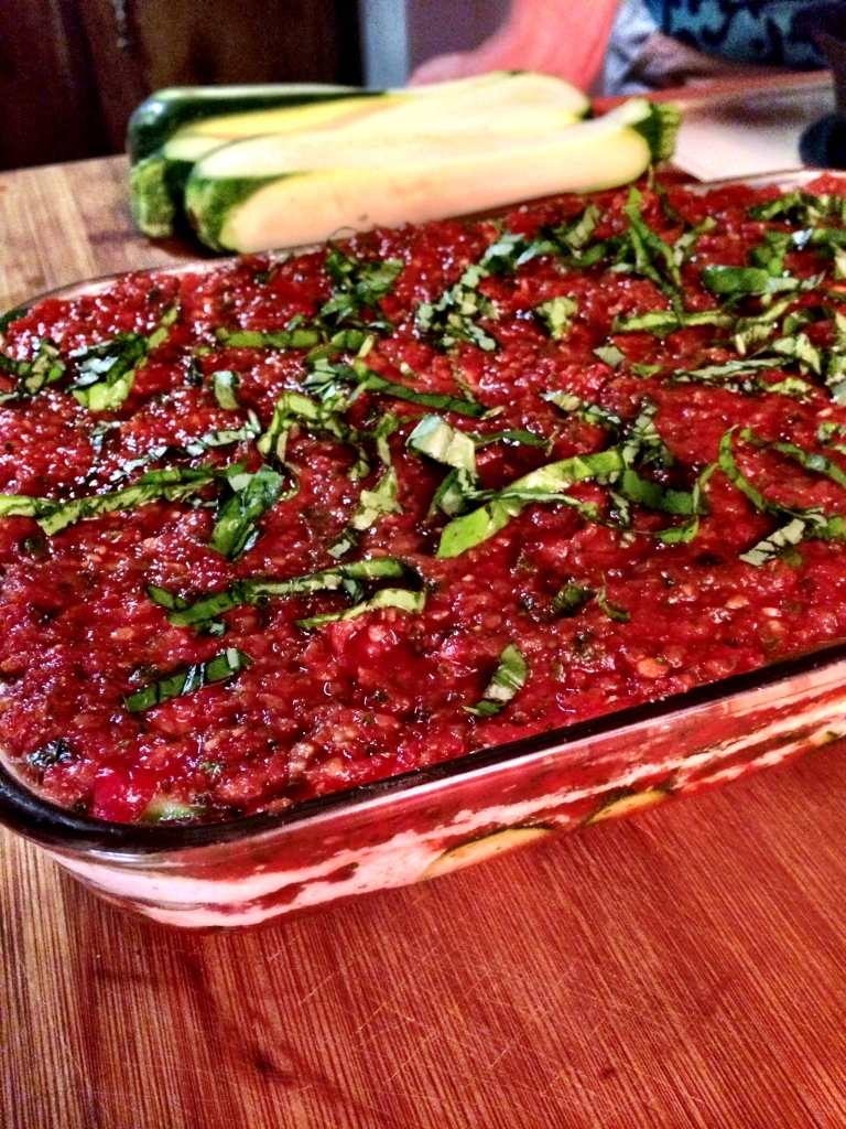 fuel sweat grow: vegan lasagna