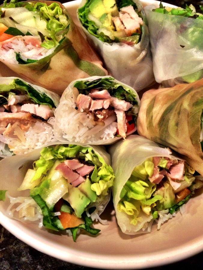 fuel sweat grow: hand rolled spring rolls