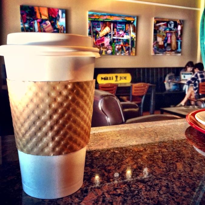fuel sweat grow: milli joe almond milk latte