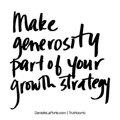 Generosity compassion creating impact out of gratitude for Work one laporte