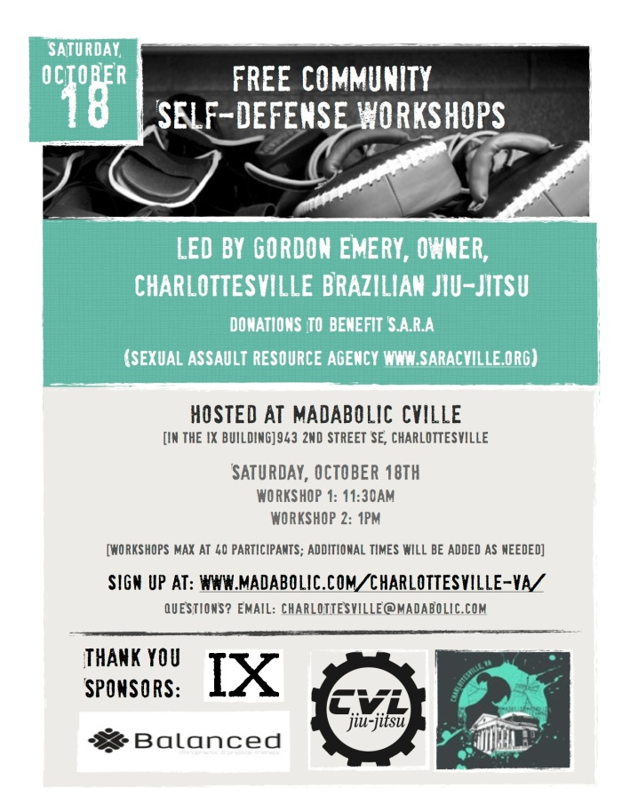 Fuel sweat grow: self-defense at IX MADabolic Cville