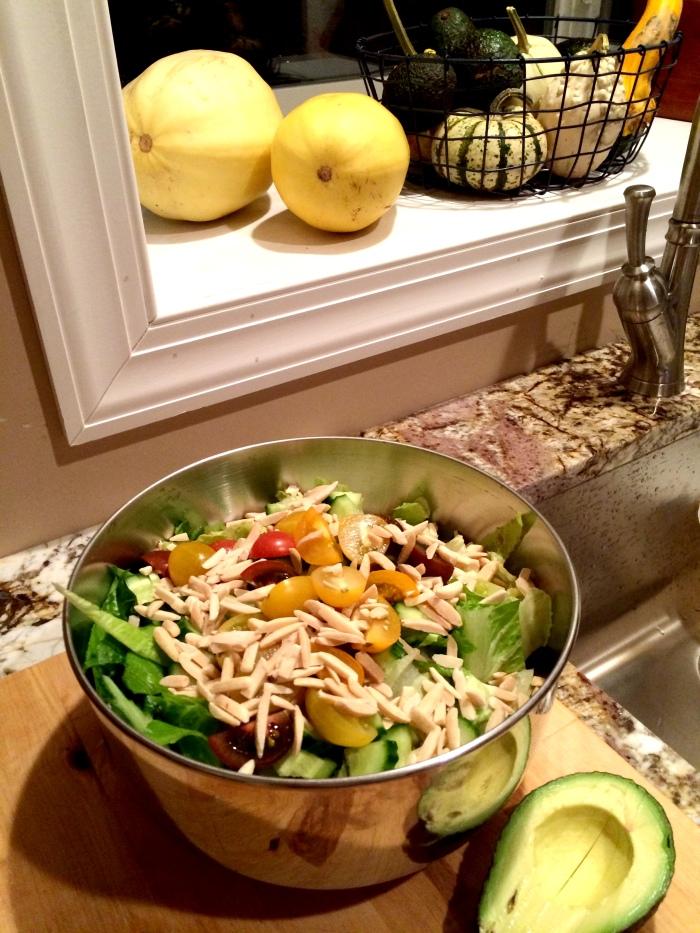 fuel sweat grow: fall squash and salad
