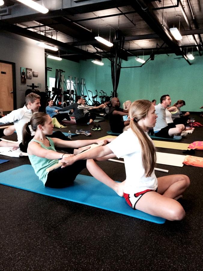 fuel sweat grow: athletic stretch class tru Pilates