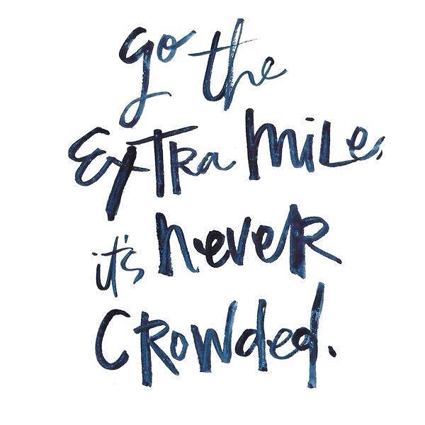fuel sweat grow: the extra mile