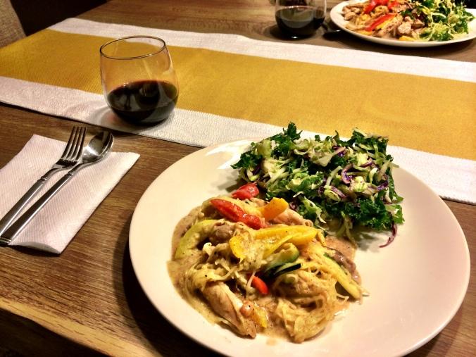 fuel sweat grow: paleo dinner thai chicken stir-fry