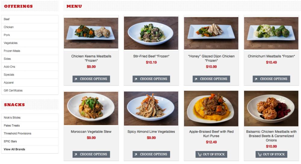 fuel sweat grow: MODpaleo menu