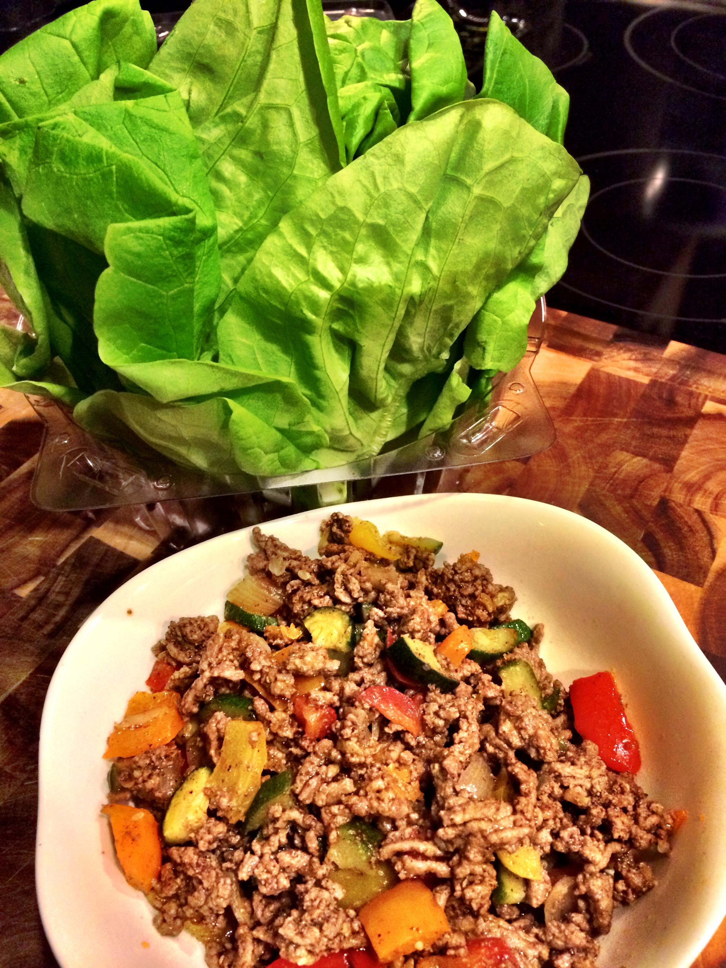 fuel sweat grow: taco salad lettuce wrap