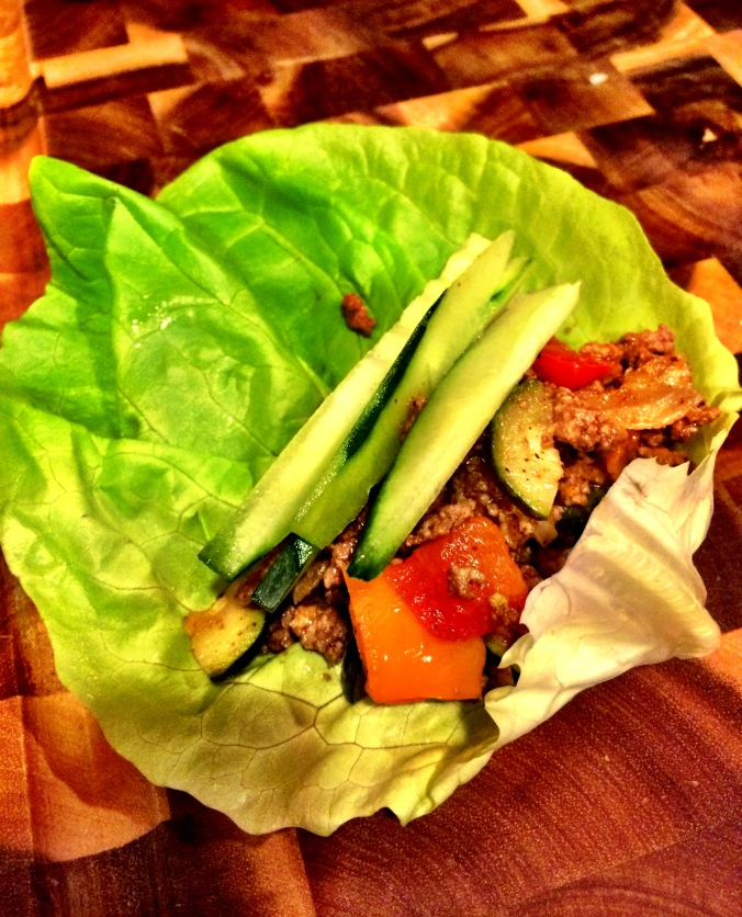 fuel sweat grow: taco salad lettuce wrap #thewholedamnthing