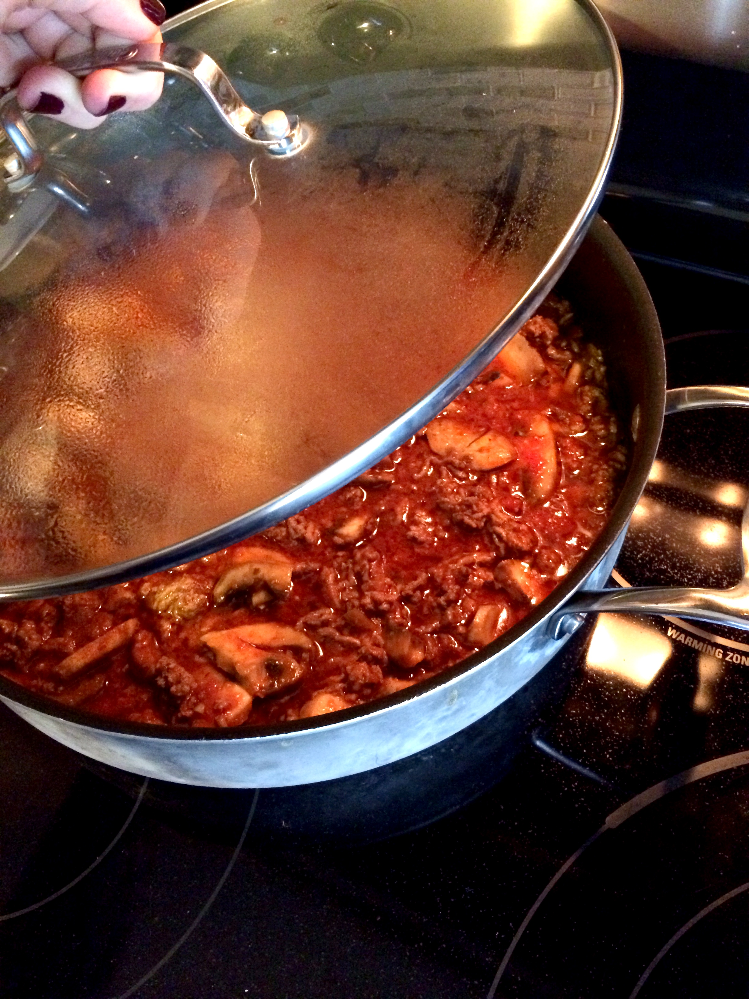 fuel sweat grow: meat and mushroom bolognese