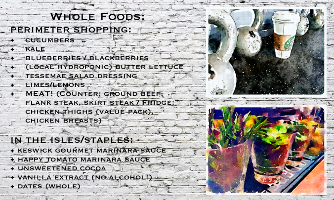 fuel sweat grow: Whole Foods Grocery List #thewholedamnthing