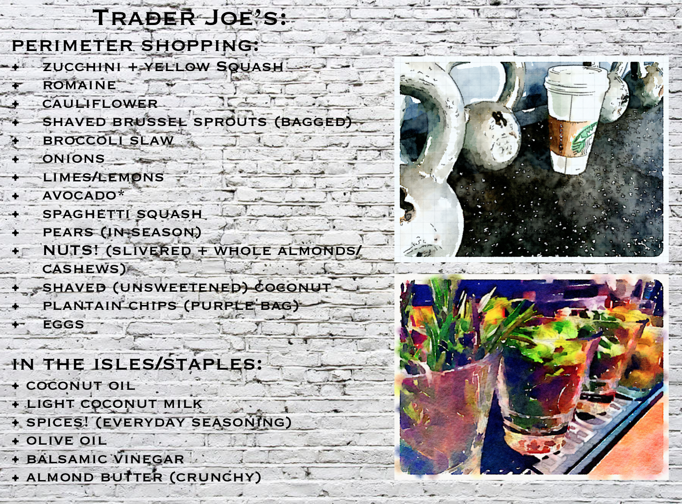 fuel sweat grow: trader joes grocery list #thewholedamnthing