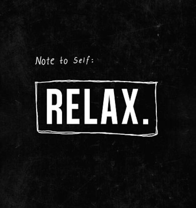 fuel sweat grow: relax