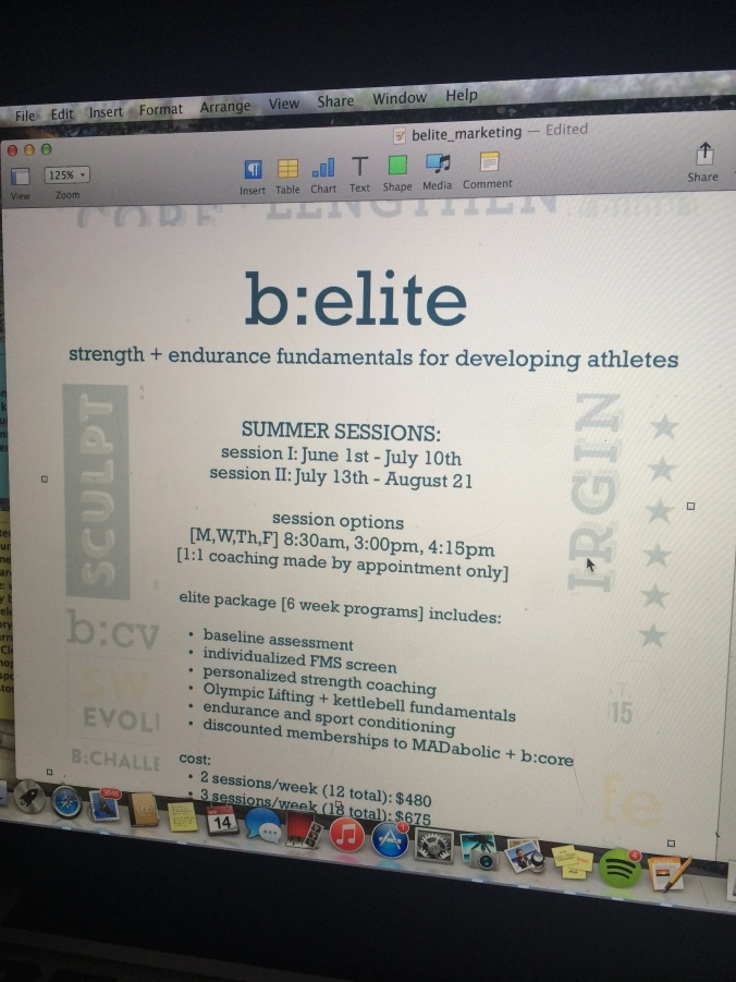 fuel sweat grow: b:elite programming