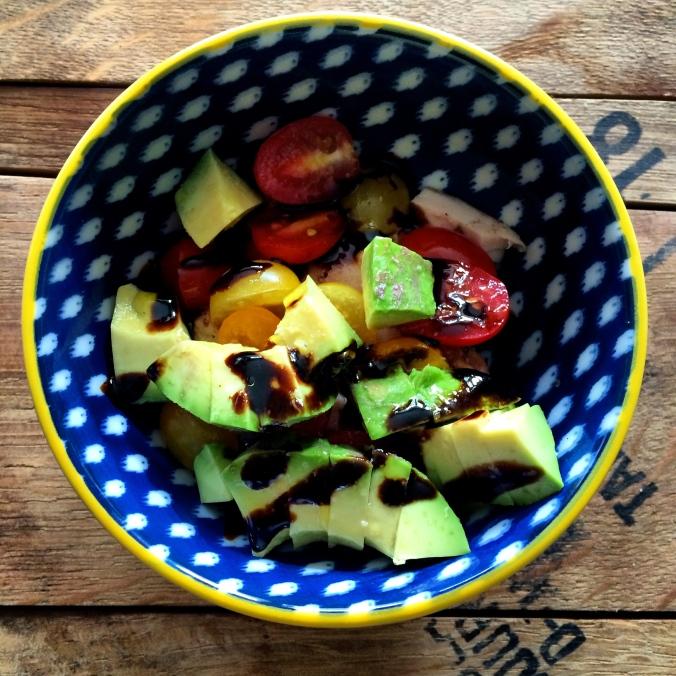 fuel sweat grow: on the go snack avocado salad