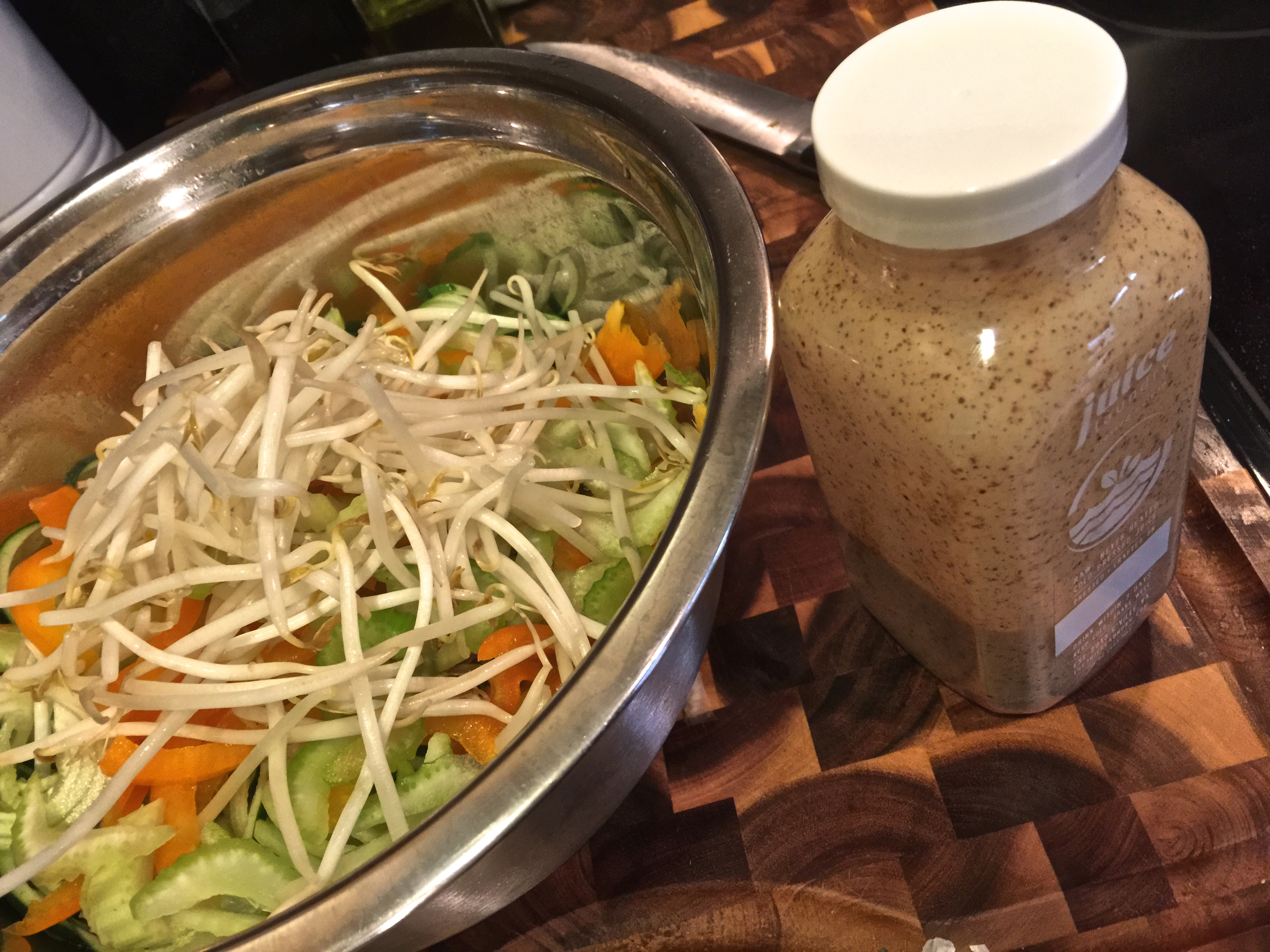 fuel sweat grow: cucumber thai noodle salad