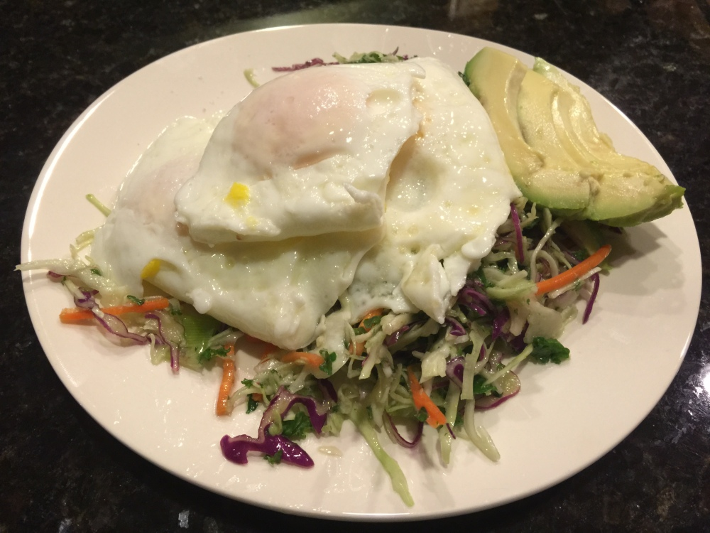 fuel sweat grow: eggs and kale slaw