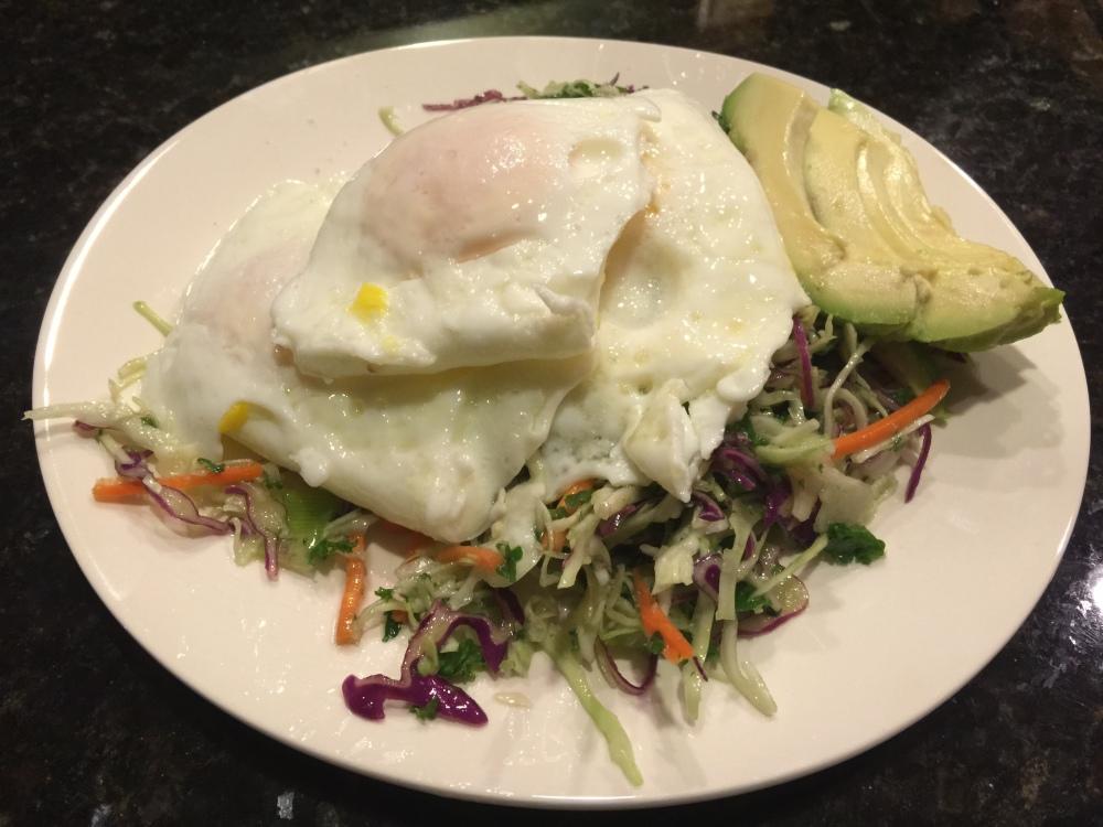 fuel sweat grow: eggs and kale slaw
