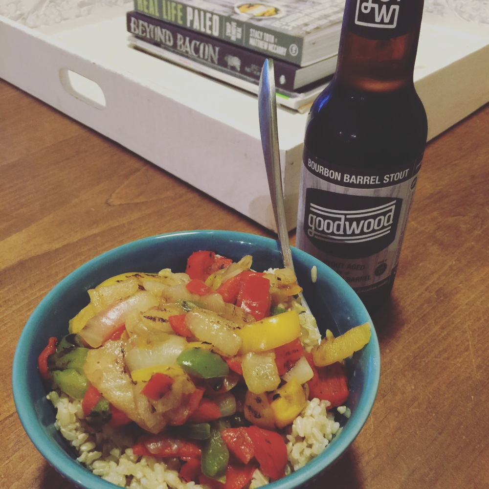 fuel swat grow: veggie stir fry and stout